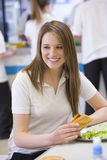 High school students eating in the school Stock Image