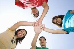 High School Students Huddling Hands Royalty Free Stock Photography