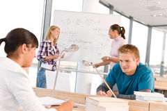 High school students with professor Royalty Free Stock Images