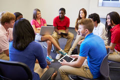 High School Students Taking Part In Group Discussi Royalty Free Stock Photos