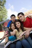 High School Students Taking Self Portrait Royalty Free Stock Photo