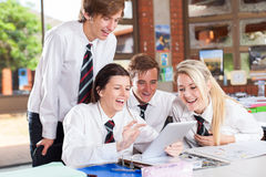 High school tablet computer Royalty Free Stock Photography