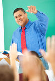 High School: Teacher Calling On Student royalty free stock photography
