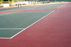 High School Tennis Court Across Royalty Free Stock Photos