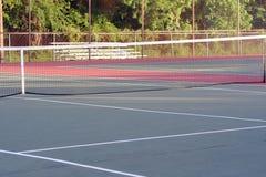 High School Tennis Court Cross View Stock Photos