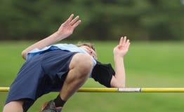 High School Track High Jump stock photo