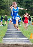 High School Track Long Jump Royalty Free Stock Image