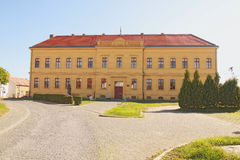 High school in Vukovar. Historical building of gymnasium in Vukovar Royalty Free Stock Image