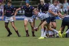 High Schools das ?as equipes da ação do rugby Imagens de Stock Royalty Free