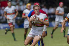 High Schools das ?as equipes da ação do rugby Foto de Stock Royalty Free