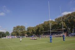 High Schools das ?as equipes da ação do rugby Imagens de Stock