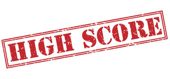 High score red stamp Royalty Free Stock Photography