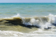 High sea wave. Royalty Free Stock Photo