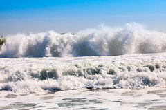 High sea waves during storm Stock Image
