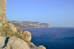 High seas. Open sea views from the Crimean mountains Stock Images