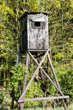 High seat at forest edge Stock Images