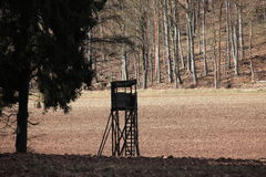 High seat for hunting Stock Images