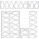 High sectional fence Stock Photo