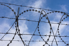 High-Security Fencing Royalty Free Stock Photography