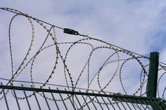 High-Security Fencing Stock Image