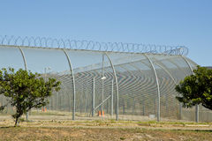 High security fencing Stock Images