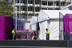 High security for London 2012 Olympics Stock Photography