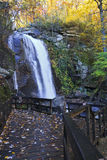 High Shoals Falls in North Carolina. High Shoals Falls in South Mountains State Park stock photography