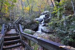 High Shoals Falls. In South Mountains State Park Royalty Free Stock Photo