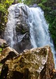 High Shoals Falls in South Mountains State Park royalty free stock photography