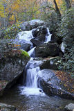High Shoals Falls. In South Mountains State Park, North Carolina stock photography