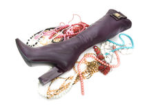 High shoe with jewelry Stock Photo