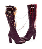 High shoes with jewelry Stock Images