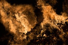 Fire Close. A high shutter speed shot of a raging bonfire Royalty Free Stock Photo