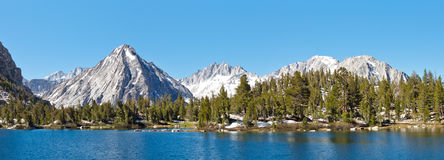 High Sierra Alpine Lake Panorama Stock Photos