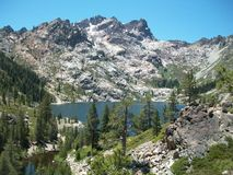 High Sierra Alpine Lake Pines Rocks Royalty Free Stock Photo