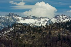 High Sierras View Royalty Free Stock Photo