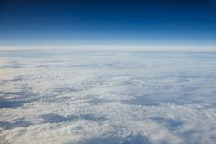 High sky above the clouds Royalty Free Stock Images
