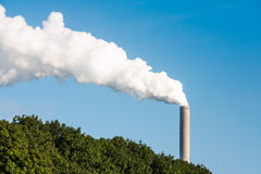High smoking chimney Stock Photo