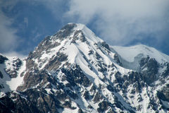 High snow mountain range Royalty Free Stock Photo