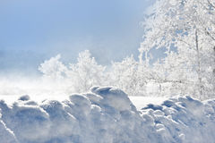 High snowdrift Royalty Free Stock Photo