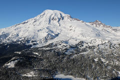 The High and Snowy Peak of Mt. Rainier Stock Photography