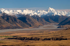 The High And Snowy Southern Alps on a Sunny Day. Stock Image