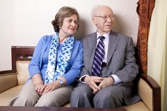 Elderly Couple Looking Away Royalty Free Stock Photo