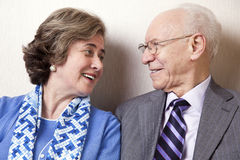 Elderly Couple in Love - Close Up Stock Image