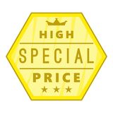 High special price label icon, cartoon style Royalty Free Stock Images