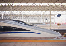 High Speed ​​Rail. In China Royalty Free Stock Photo