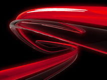 High Speed. 3d illustration of glowing red, and clear tubes twisting into the distance Royalty Free Stock Images