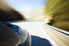 High speed. Abstract blurred action from car at high speed Stock Photo
