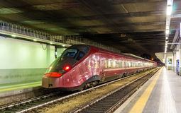 High-speed Alstom AGV train at Milano Porta Garibaldi railway station Stock Photo