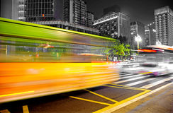 Free High Speed And Blurred Bus Light Trails Royalty Free Stock Photos - 22256348